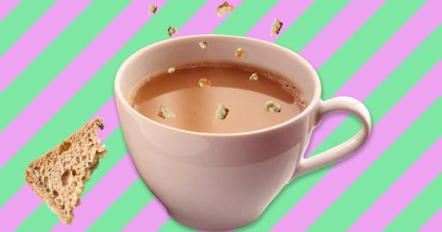 Breadcrumbs in tea