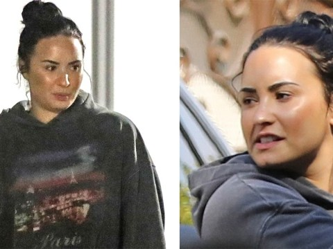 Demi Lovato keeps head down as she returns from 'rehab stint' following 21 Savage backlash