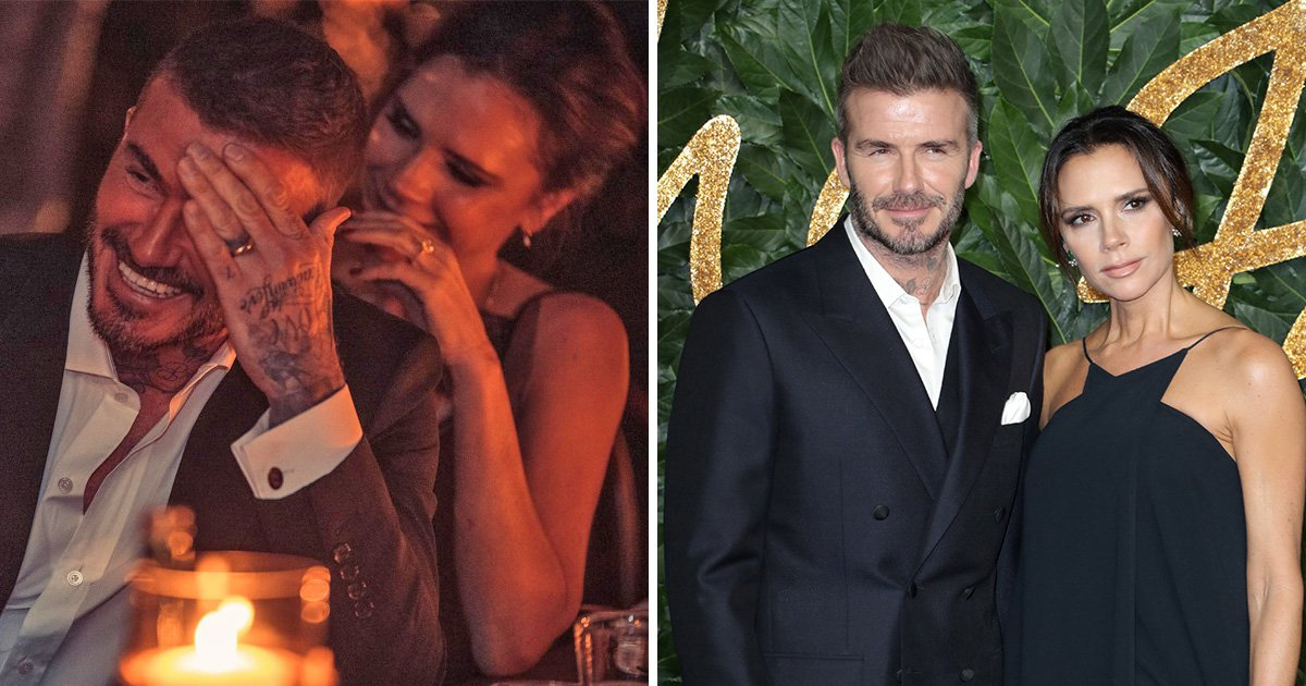 Victoria Beckham looks radiant while flashing rare smile as David banters during loved-up date night