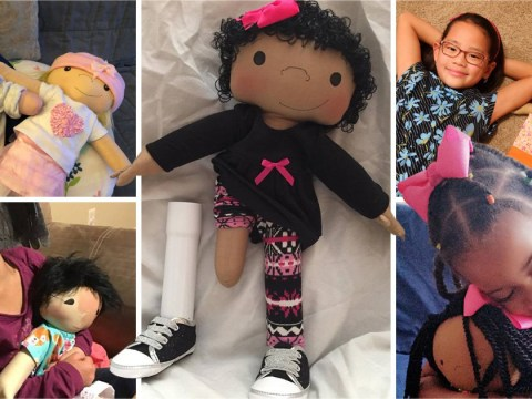Mum makes dolls for children with disabilities and of different skin colours