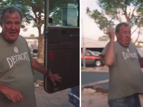 The Grand Tour's RV nearly sets cameraman's leg on fire as Jeremy Clarkson looks on in horror