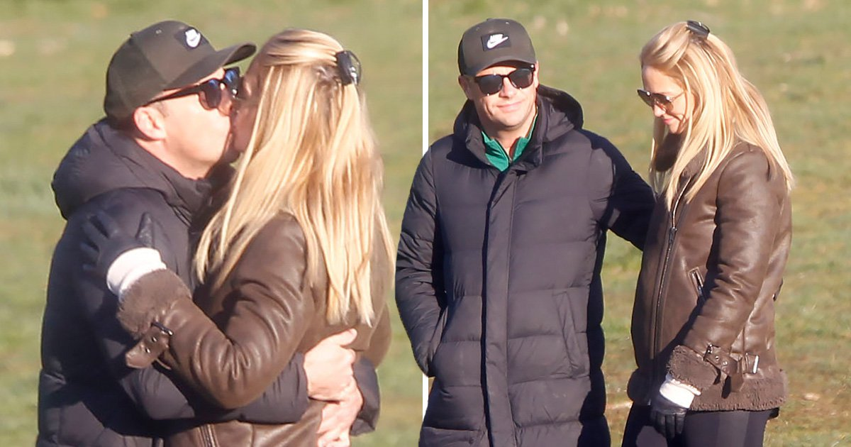 Ant McPartlin looks loved up with girlfriend Anne-Marie Corbett as he shrugs off Kerry Katona comments