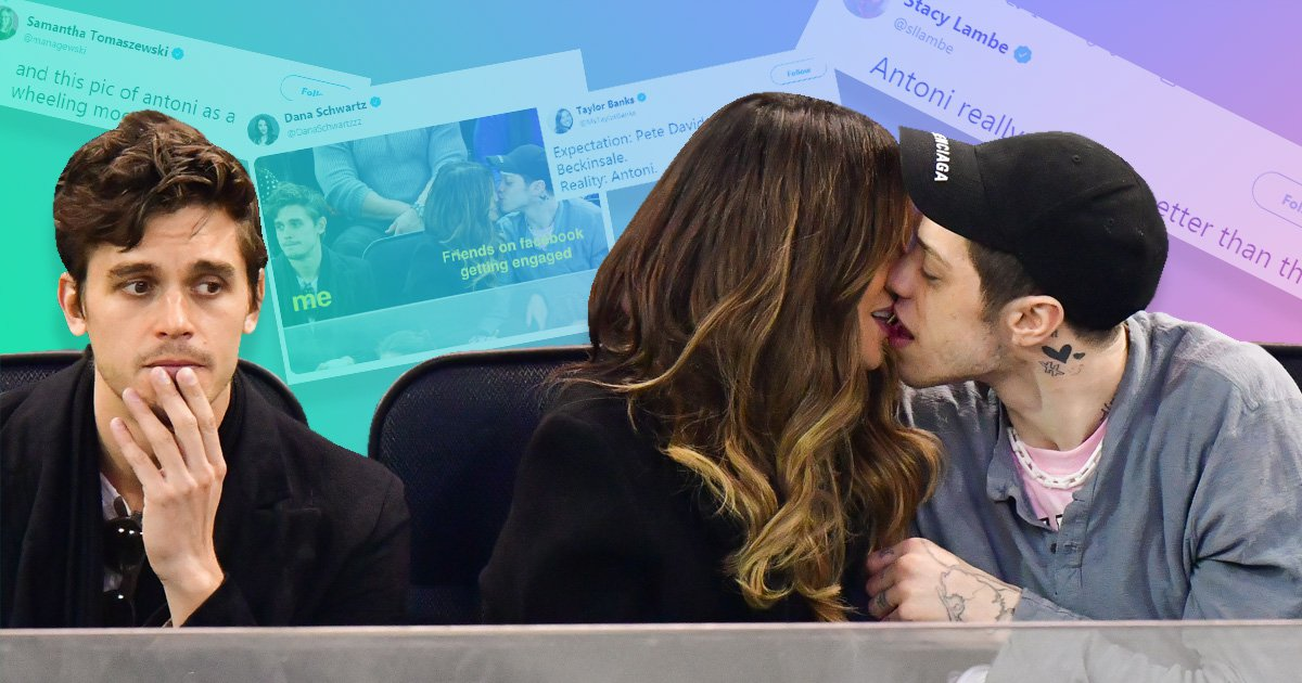 Queer Eye's Antoni reveals what was going through his head in viral Pete Davidson and Kate Beckinsale kissing photo