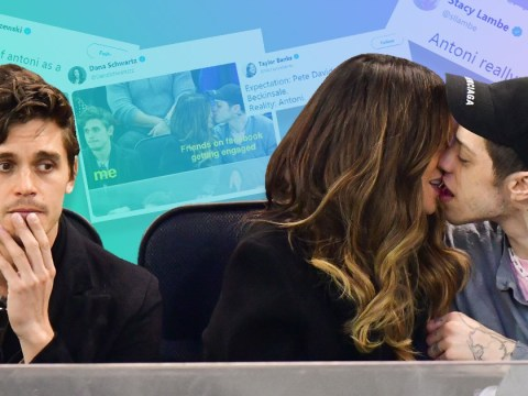 Queer Eye's Antoni third-wheeling Pete Davidson and Kate Beckinsale's full-on make-out session is the meme we need