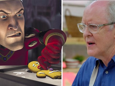 John Lithgow made gingerbread on Celebrity Bake Off and the Shrek jokes were not lost on people