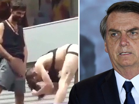 Brazil's president shares clip of man urinating on another man's head