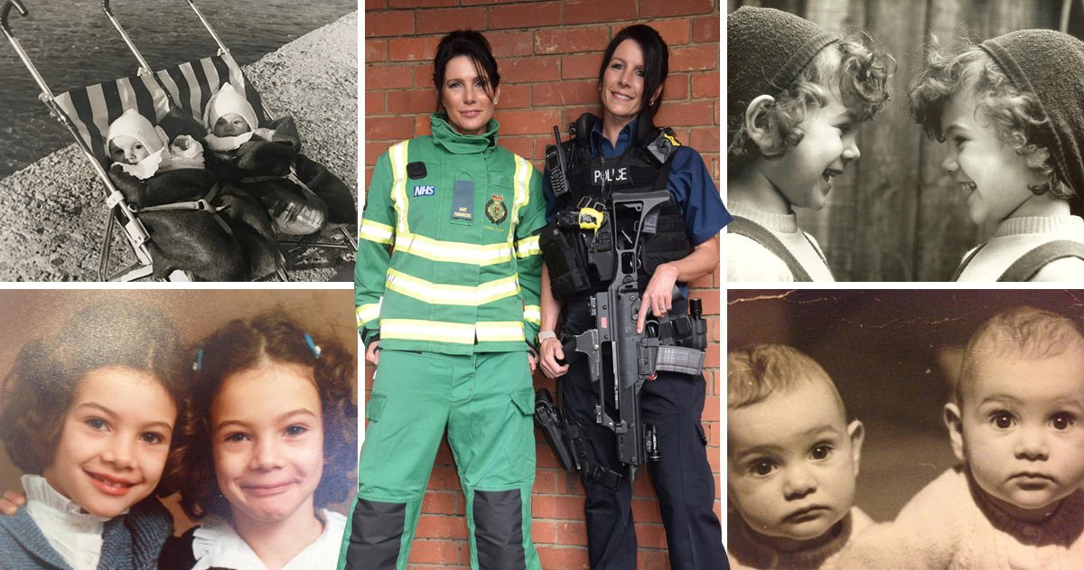 Identical 999 sisters say 'telepathic twin' bond makes the job easier