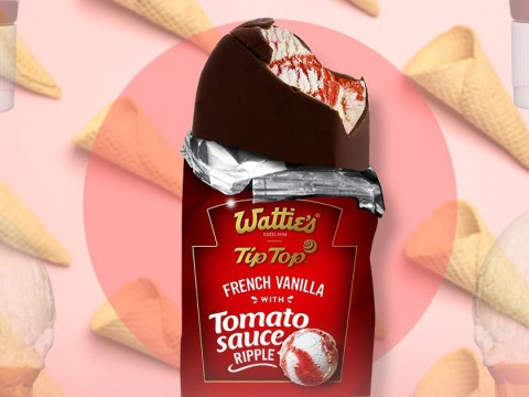 For some horrifying reason, tomato sauce ice cream is now a thing