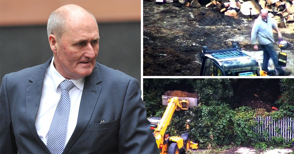 Construction boss filmed fly-tipping 13 tonnes of rubbish over fence