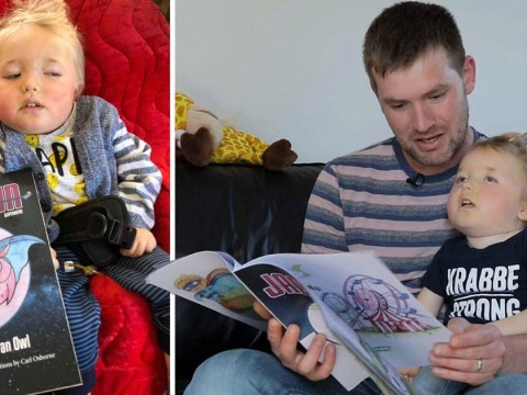 Dad writes a book to turn his little boy into a superhero before he dies