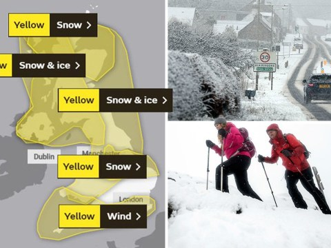 Britain battered by snow, ice and 65mph wind with weather warnings swamping UK