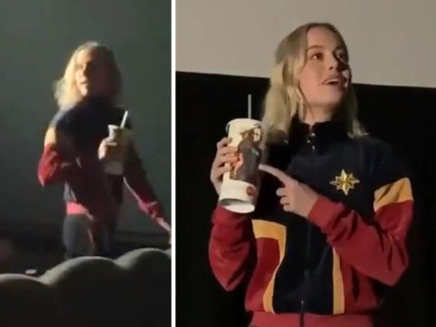 Brie Larson casually surprises fans at cinema to watch herself in Captain Marvel
