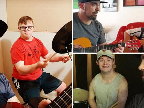 Man teaches students with Down's Syndrome how to play music