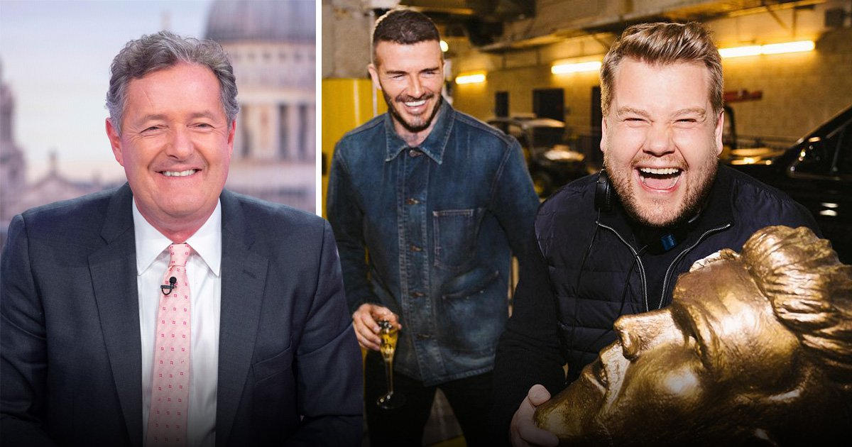 Piers Morgan praises James Corden for 'laying bare David Beckham's vanity' after epic prank