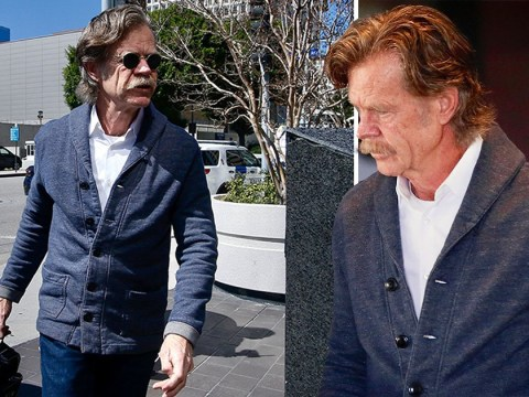 William H Macy looks tense visiting wife Felicity Huffman after her arrest over college fraud scandal