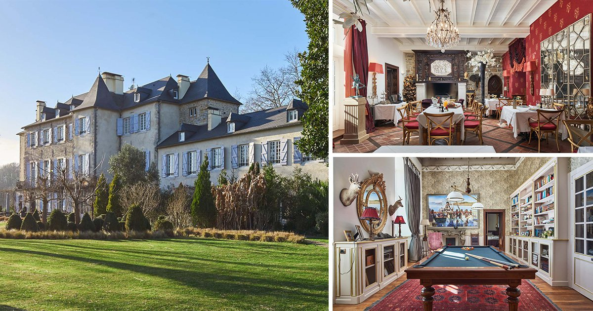An absolutely beautiful castle in France near the ski slopes is up for auction