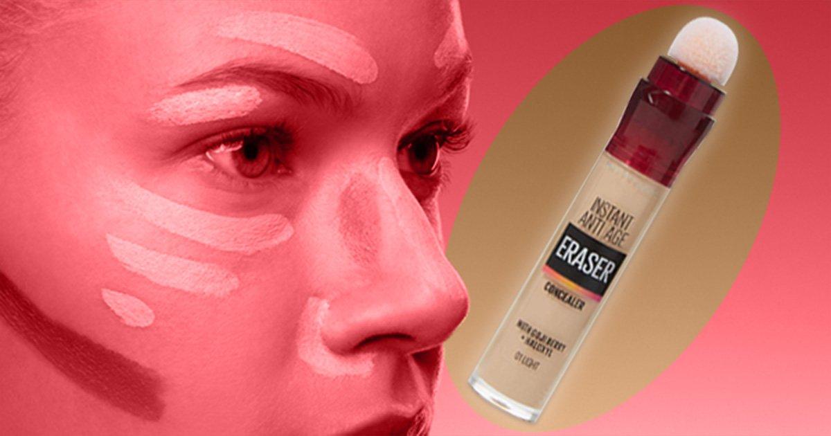 The Maybelline Eraser Eye Concealer is the most popular concealer sold on Amazon
