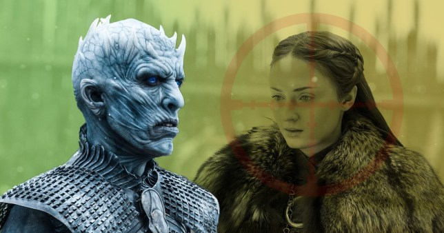 Sansa Stark and The Night King in Game of Thrones