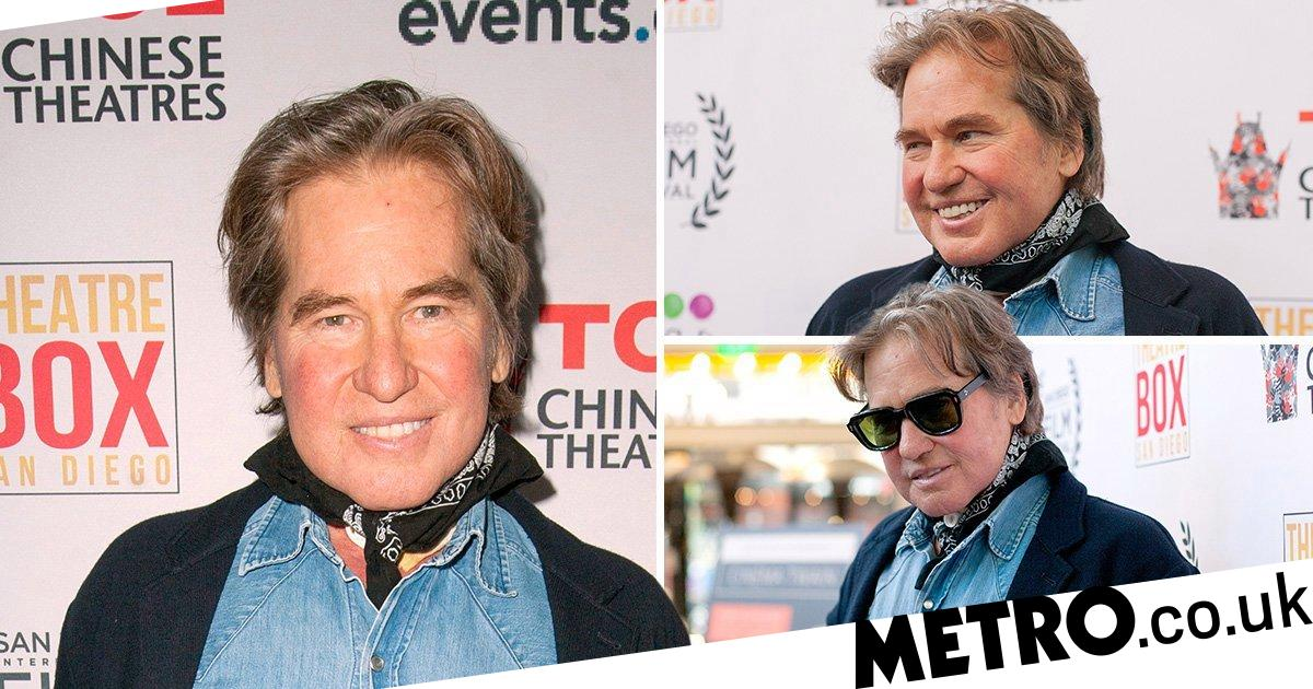 val kilmer puts on energetic performance as after cancer