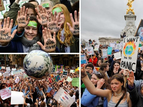 Children stage global walkout in protest at climate change