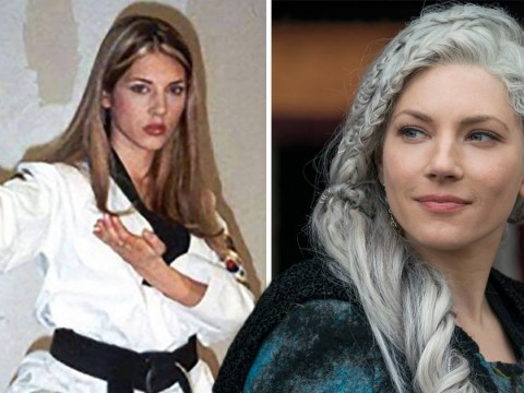 Viking's Katheryn Winnick proves she's always been a badass with epic throwback