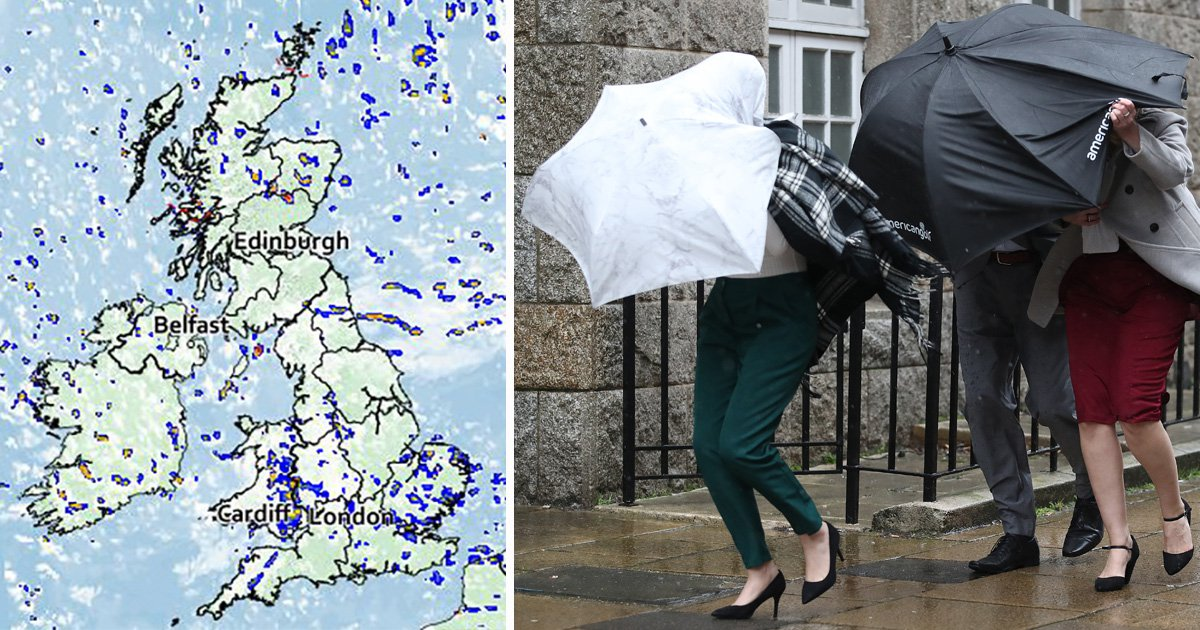 Thunder and hail set to rip through parts of the UK
