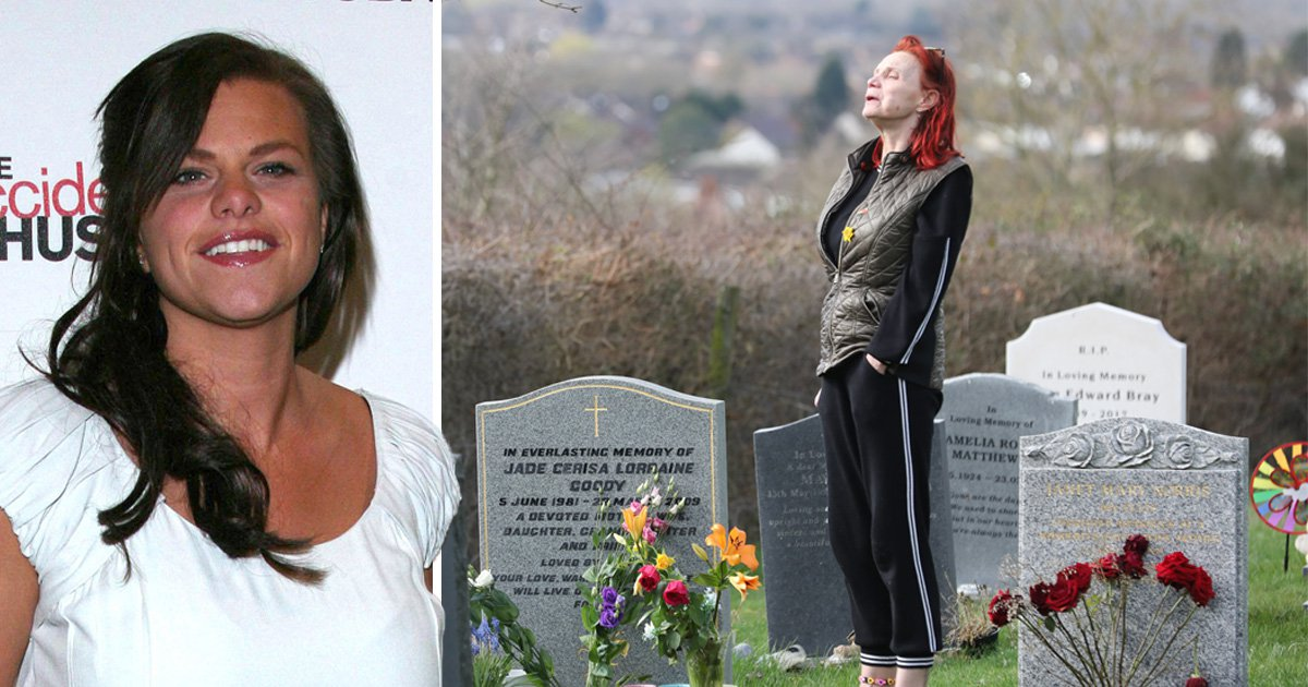 Jade Goody's mum makes heartbreaking journey to daughter's grave for first time in five years