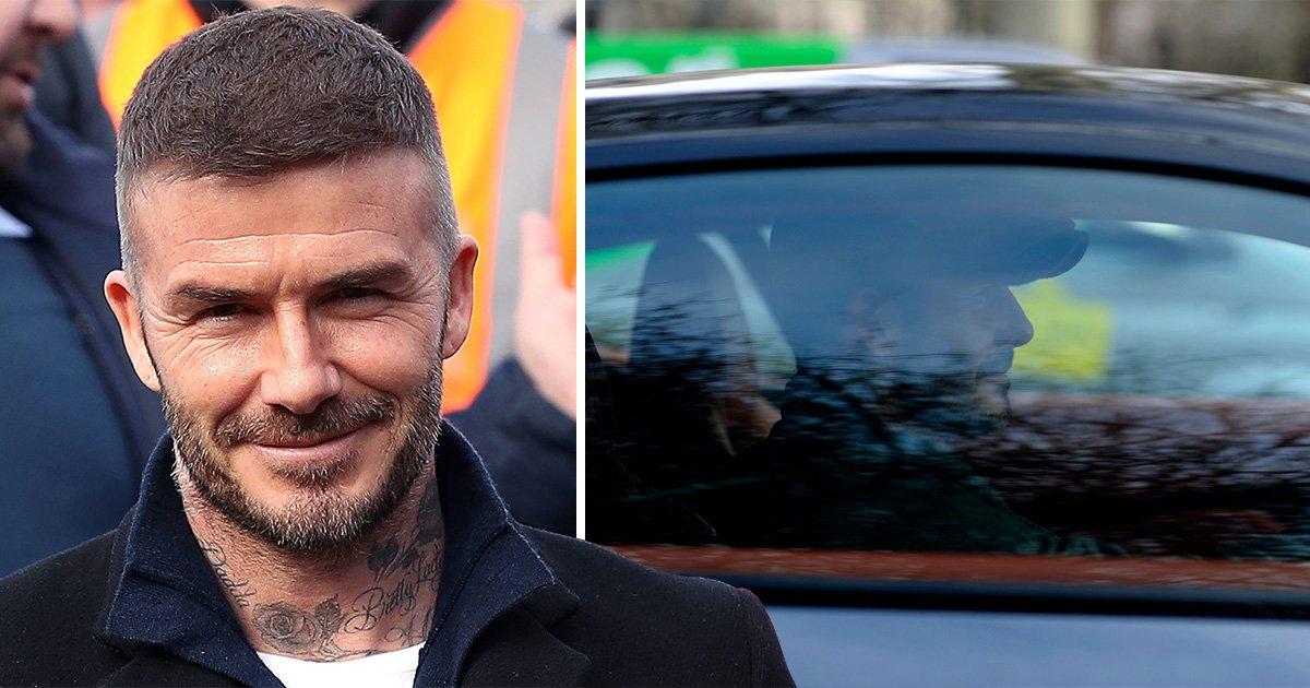 David Beckham admits using phone behind the wheel of his Bentley