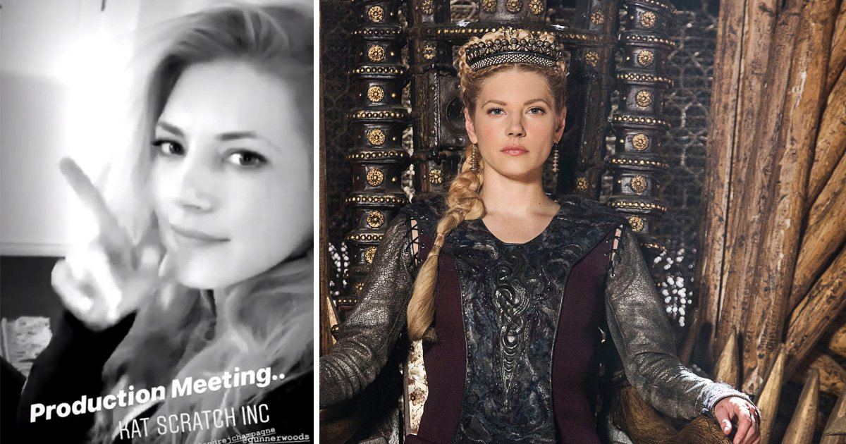 Vikings star Katheryn Winnick gets to work in production meeting on top secret project after final season