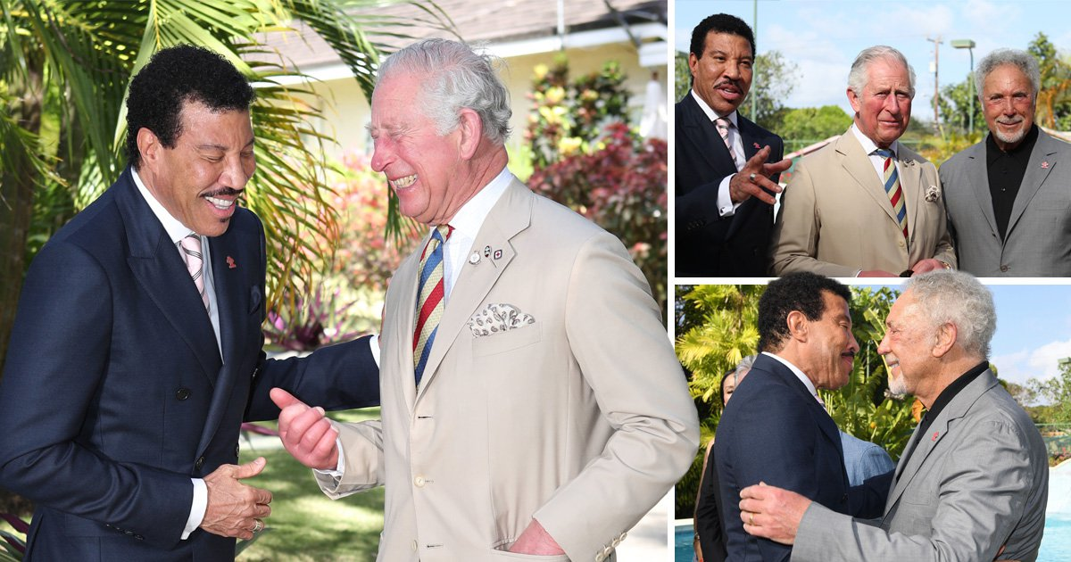 Lionel Richie is on cloud nine as he celebrates becoming an ambassador for The Prince's Trust International with Prince Charles and Tom Jones