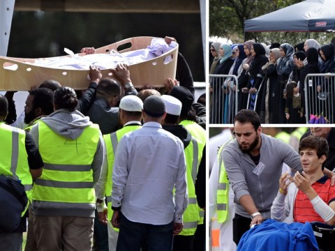 Father and son become first to be buried after New Zealand terror attack