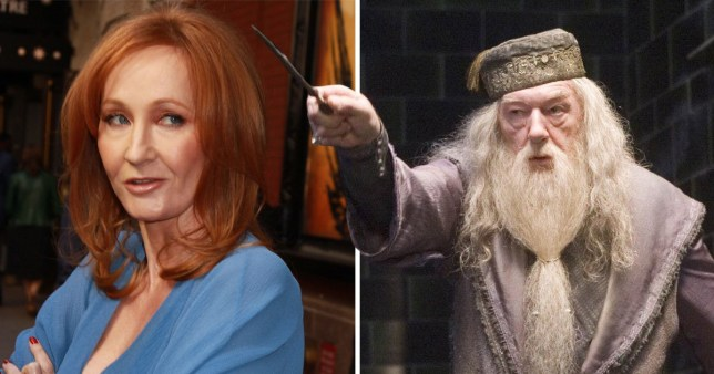 JK Rowling and Dumbledore
