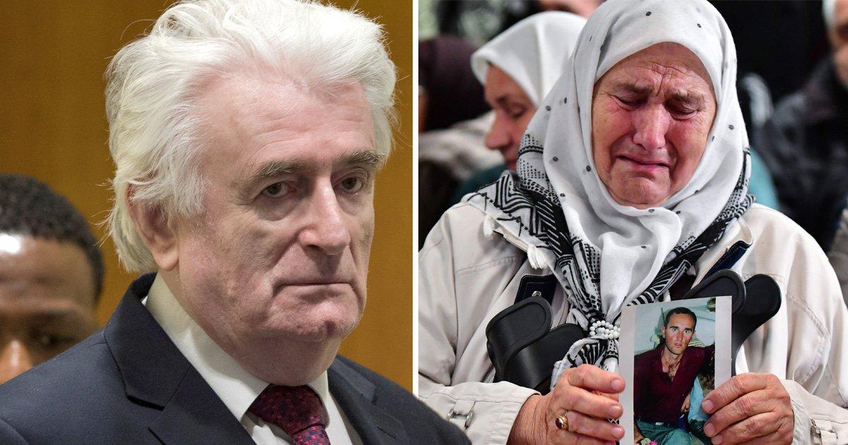 Bosnian Serb leader Radovan Karadzic has genocide sentence extended to life