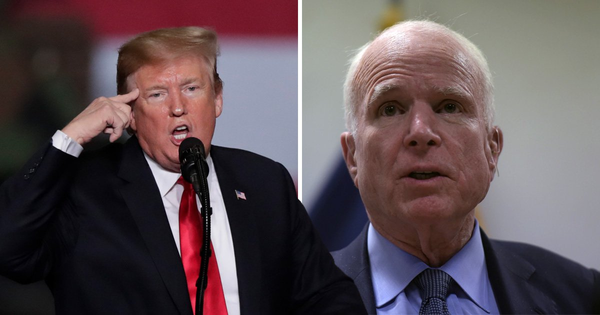 Donald Trump attacks John McCain saying he didn't get a thank you for funeral