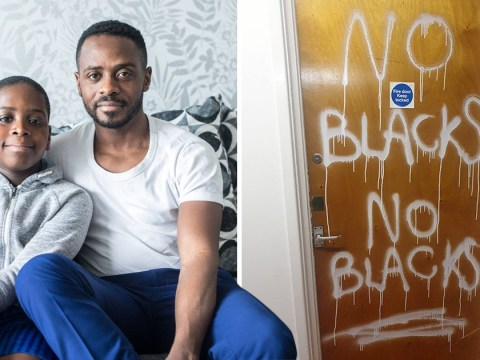 Gardener 'doesn't know why' he painted 'no blacks' on African family's door