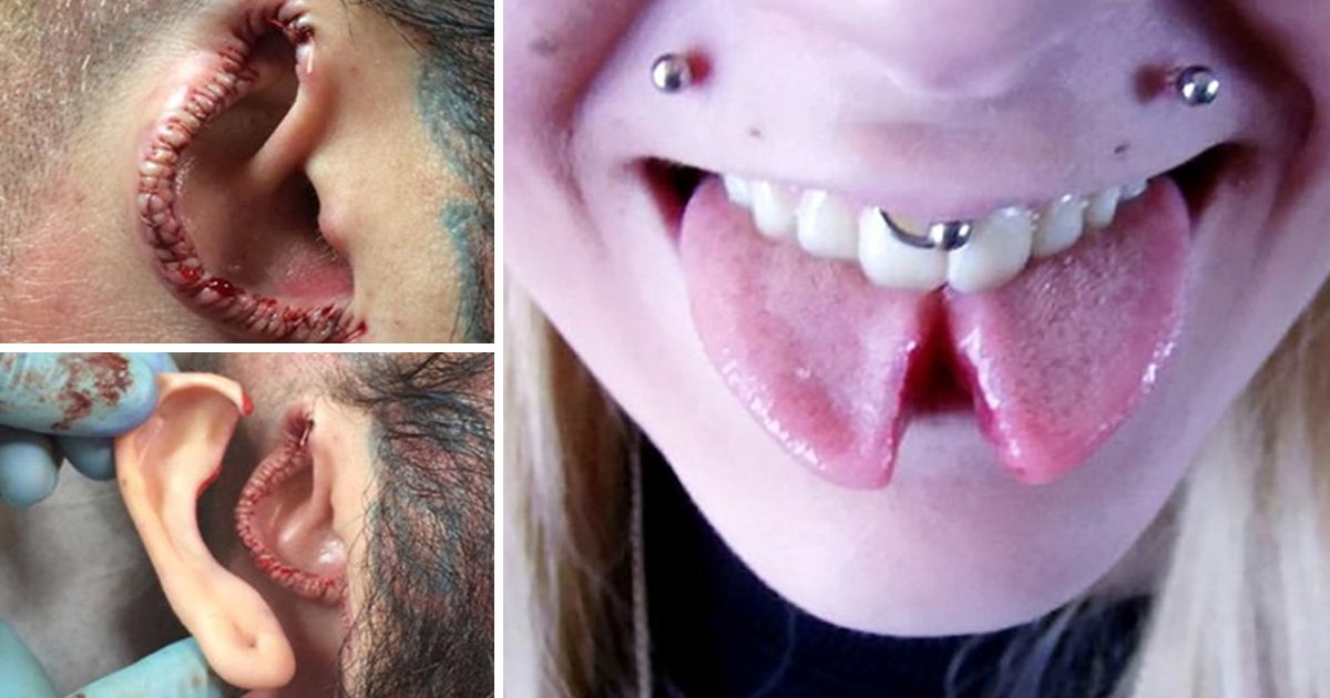 Tattooist jailed for splitting tongue and cutting off ear and nipple