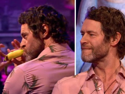 Howard Donald hailed Celebrity Juice hero as he thrusts and shows off banana skills