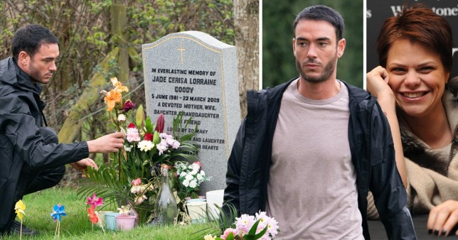 238e7519a0 Jack Tweed places flowers at Jade Goody s grave