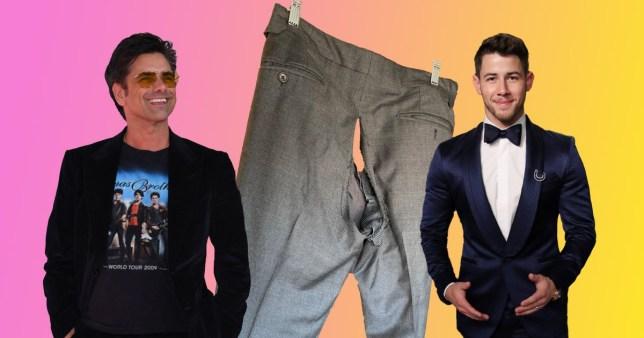 John Stamos blames Nick Jonas as his trousers rip on stage amid bizarre prank war