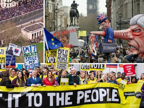 Over '1,000,000 people' join anti-Brexit march to demand second referendum