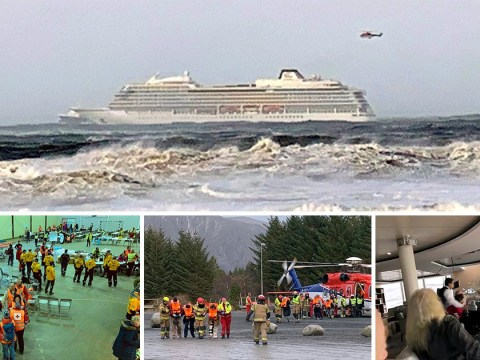 Passengers injured as helicopter rescues 200 Brits from cruise ship in Norway
