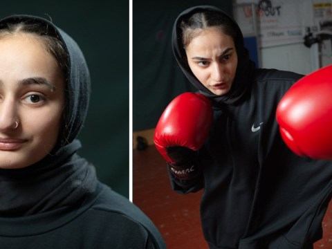 Muslim teenager enters boxing competition wearing a hijab