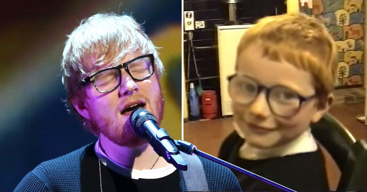 Sweet Baby Ed Sheeran 'cried every day' after bullies targeted his ginger hair, stutter and glasses