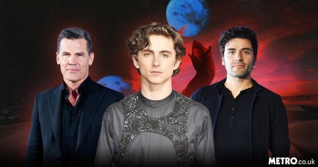 Timothee Chalamet, Josh Brolin and Oscar Isaac