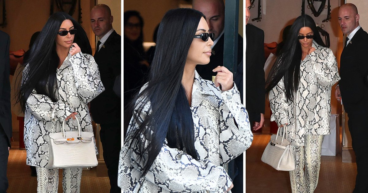 Kim Kardashian enjoys some retail therapy in Paris hours after Kanye's LA Sunday service