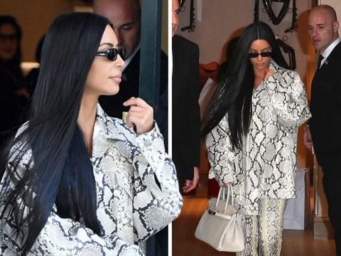 Kim Kardashian enjoys some retail therapy in Paris hours after Kanye's LA Sunday service