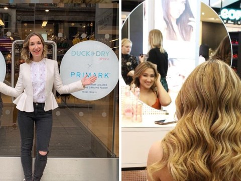 Primark has a blow dry bar so you can get your hair done on the cheap