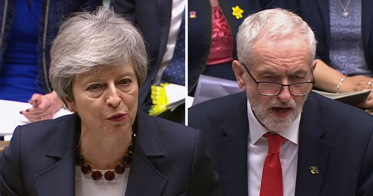 Theresa May is sinking and she's trying to drag Corbyn down with her