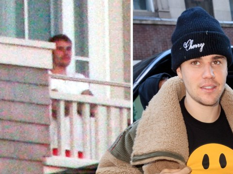 Justin Bieber pictured moments after woman breaks into hotel room