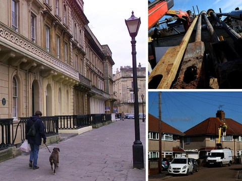 Snobby council moved 1930s lamp posts from poor street to rich street